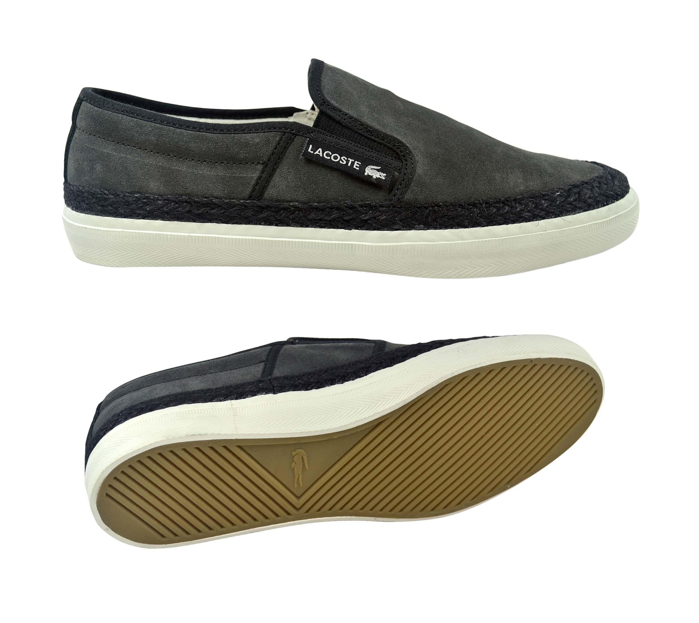 lacoste gazon 2 srm dark grey brown off white slipper. Black Bedroom Furniture Sets. Home Design Ideas