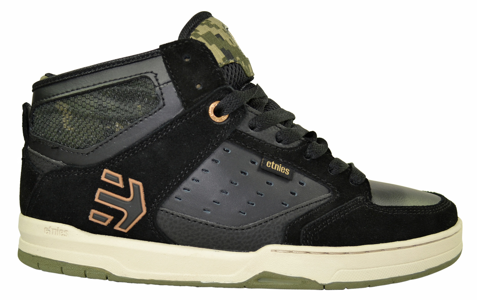 ab7b35c9eebb09 Etnies Cartel Mid black camo Skater Schuhe Sneaker Camouflage ...