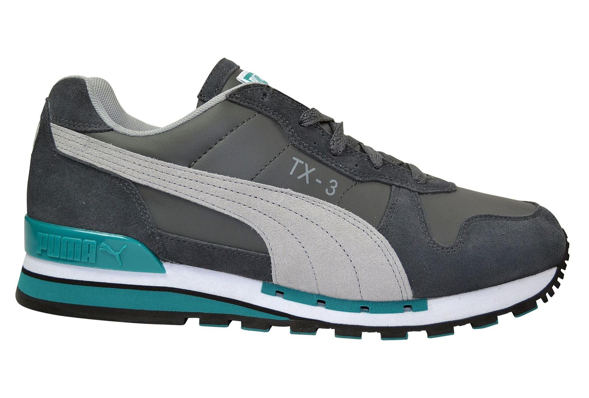Puma TX 3 LTHR Suede limestone gray Sneaker grau 35567403 Gr e 44