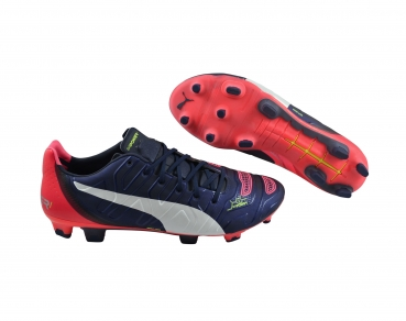 Puma evoPower 1.2 FG peacoat/white/bright plasma