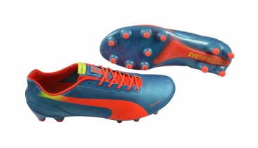 Puma evoSPEED 1.2 FG blue-peach-yellow