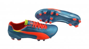 Puma evoSPEED 2.2 FG blue-fl peach-fl yellow
