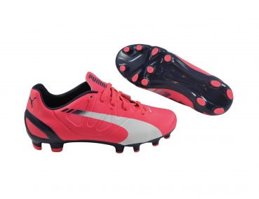 Puma evoSPEED 4.3 FG Jr bright plasma/white/peacoat
