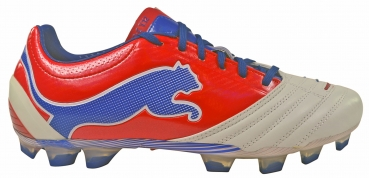 Puma Powercat 1.12 FG white/ribbon red/limoges