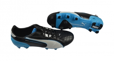 Puma Spirit FG black-white-fluo blue