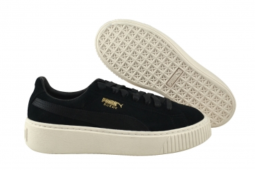 sports shoes e1ab3 b5672 Puma Suede Platform Mono Satin black/white/gold